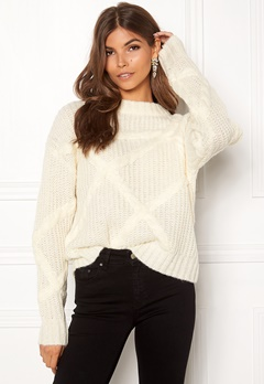 SELECTED FEMME Gina LS Knit O-neck Birch Bubbleroom.fi