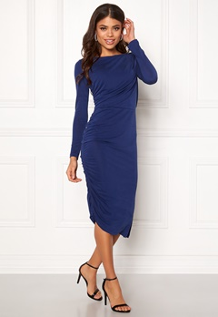 SELECTED FEMME Helen LS Dress Blue Depths Bubbleroom.fi