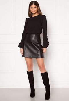 SELECTED FEMME Ibi Leather Skirt Black Bubbleroom.fi