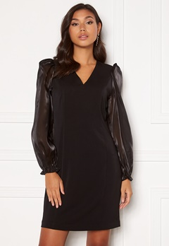 SELECTED FEMME Jomena LS Short Dress Black Bubbleroom.fi