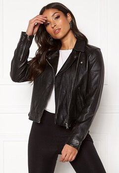 SELECTED FEMME Kate Leather Jacket B Black Bubbleroom.fi