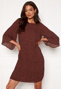 SELECTED FEMME Kinsley 3/4 Short Dress Smoked Paprika Bubbleroom.fi