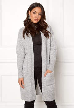 SELECTED FEMME Livana LS Knit Cardigan Light Grey Melange Bubbleroom.fi