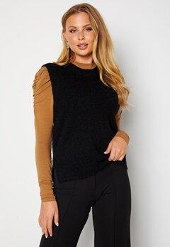 SELECTED FEMME Lulu Knit Vest O-Neck Black bubbleroom.fi