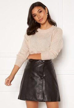 SELECTED FEMME Lulu LS Knit O-Neck Birch Detail:Melange Bubbleroom.fi