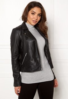 SELECTED FEMME Marlen Leather Jacket Black Bubbleroom.fi