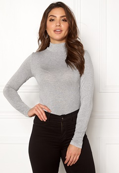 SELECTED FEMME Mio LS Highneck Light Grey Melange Bubbleroom.fi