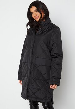 SELECTED FEMME Naddy Quilted Coat Black bubbleroom.fi