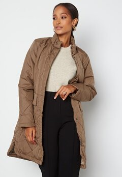 SELECTED FEMME Naddy Quilted Coat Caribou bubbleroom.fi