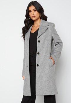 SELECTED FEMME New Sasja Wool Coat Light Grey Melange bubbleroom.fi