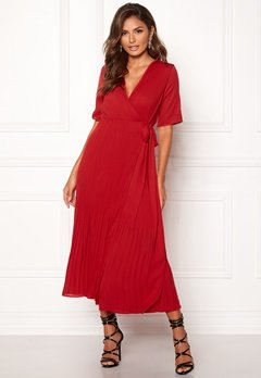 SELECTED FEMME Piper 2/4 Wrap Dress True Red Bubbleroom.fi