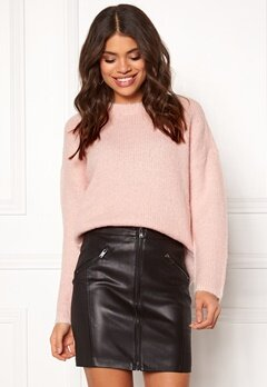 SELECTED FEMME Regina L/S Knit Sepia Rose Bubbleroom.fi