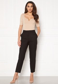 SELECTED FEMME Ria MW Cropped Pant Black Bubbleroom.fi