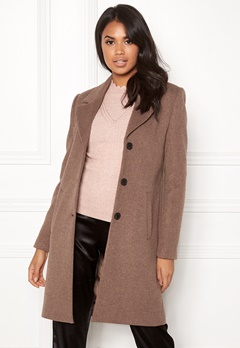 SELECTED FEMME Sasja Wool Coat Deep Taupe Melange Bubbleroom.fi