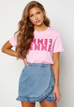 SELECTED FEMME Simi SS Tee Pink Lavender Bubbleroom.fi
