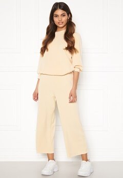 SELECTED FEMME Tenny MW Cropped Wide Pant Birch Bubbleroom.fi