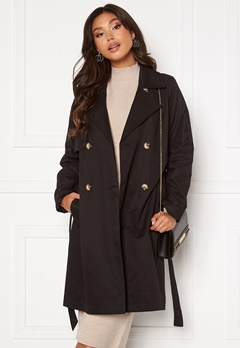 SELECTED FEMME Weka Trenchcoat Black Bubbleroom.fi