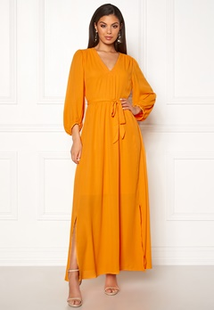 SELECTED FEMME Zix 3/4 Maxi Dress Radiant Yellow Bubbleroom.fi