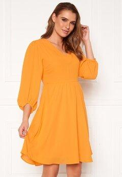 SELECTED FEMME Zix 3/4 Short Dress Radiant Yellow Bubbleroom.fi