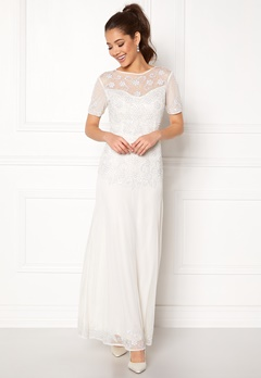 AngelEye Sequin Embellished Dress White Bubbleroom.fi
