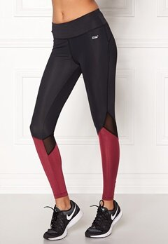 Shape Me Up Stella Tights Black/Burgundy Bubbleroom.fi