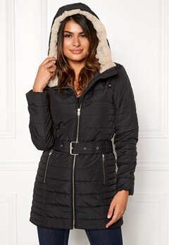 ONLY Shelly Hooded Coat Black Bubbleroom.fi