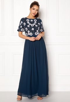 AngelEye Short Sleeve Sequin Dress Navy Bubbleroom.fi