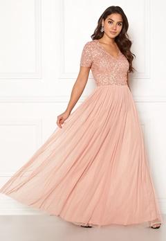 AngelEye Short Sleeve Sequin Dress Cameo Rose Bubbleroom.fi