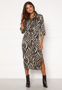 Sisters Point Eron Dress 1 Black/Camel Bubbleroom.fi