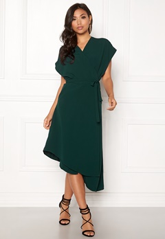 Sisters Point Eye Dress 301 Bottle Green Bubbleroom.fi