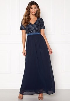Sisters Point Galio Dress 440 Navy Bubbleroom.fi