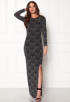 Sisters Point Gelly Dress 001 Black/silv Bubbleroom.fi