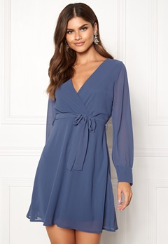 Sisters Point Gerdo Dress 050 Grey/Blue Bubbleroom.fi