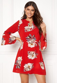 Sisters Point Glans-8 Dress 501 Red/Flower Bubbleroom.fi