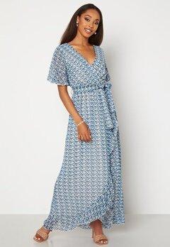 Sisters Point Gush Dress 116 Cream/Blue Bubbleroom.fi