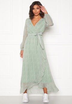 Sisters Point Gush Dress L.Khaki/Leo Bubbleroom.fi