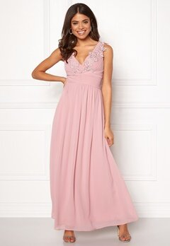 Sisters Point Nanny Long Dress 585 Dusty Rose Bubbleroom.fi
