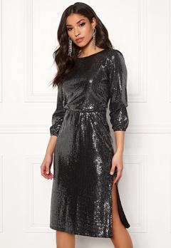 Sisters Point Necca Dress 001 Black/Silver Bubbleroom.fi