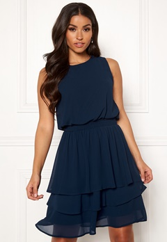 Sisters Point Nicoline Dress 440 Navy Bubbleroom.fi