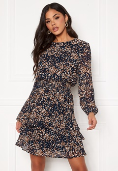 Sisters Point Nicoline Dress 441 Navy/Cacao Bubbleroom.fi