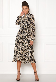 Sisters Point Valli Dress 002 Black/Mustard Bubbleroom.fi
