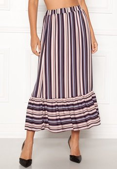Sisters Point Varna Skirt 117 Cream/Blue strip Bubbleroom.fi