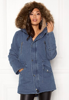 Sixth June Parkas Denim Jacket Blue Denim Bubbleroom.fi