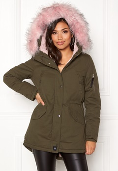 Sixth June Parkas Faux Fur Hood Jkt KABB Bubbleroom.fi
