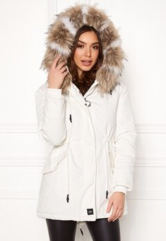Sixth June Parkas Faux Fur Jacket White/Beige Bubbleroom.fi