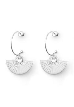 BY JOLIMA Skiathos Earring Pendant Silver Bubbleroom.fi