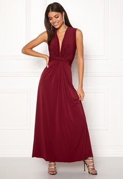 John Zack Sleeveless Knot Dress Wine Bubbleroom.fi