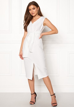 Closet London Sleeveless Midi Dress White Bubbleroom.fi