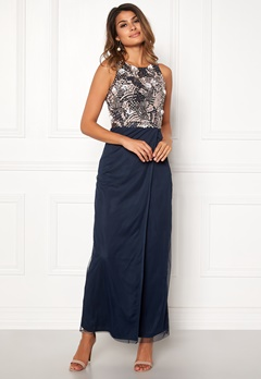 AngelEye Sleveless Sequin Dress Navy Bubbleroom.fi