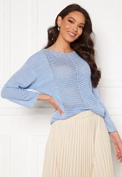 Jacqueline de Yong Smilla 3/4 Pullover Brunnera Blue Bubbleroom.fi